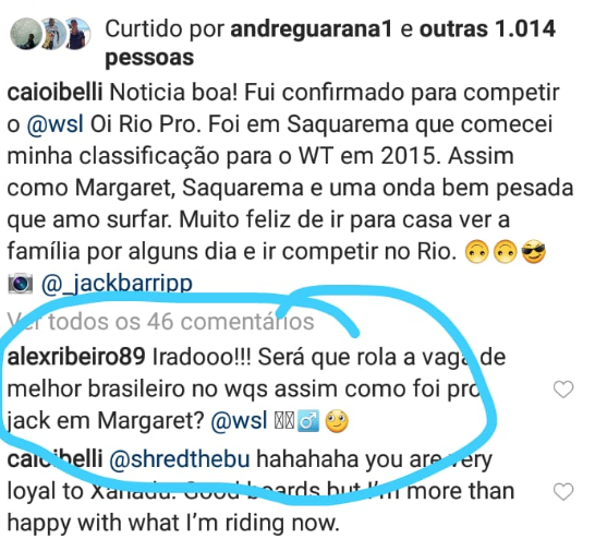 Print do Instagram de Caio Ibelli