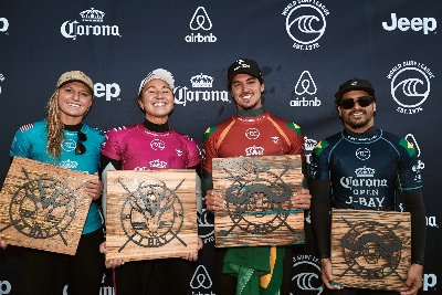 Jeffreys Bay 2019 Podium foto wsl